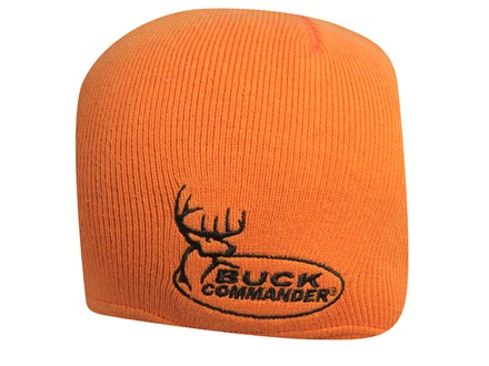 Buck Commander Reversible Logo Beanie Cotton and Acrylic Black and Blaze Orange