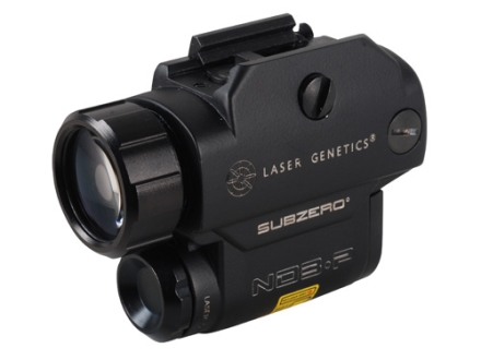 Laser Genetics ND3-P Sub Zero 15mW Green Laser Illuminator with Pressure Switch and Integral Pistol Mount Matte