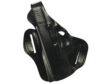 DeSantis F.A.M.S. Outside the Waistband Holster with Lock Hole Left Hand Sig P225, P228, P229, P220 Carry Leather Black