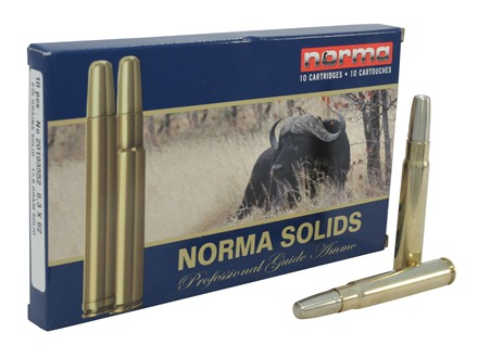 Norma Solid Ammunition 9.3x62mm Mauser 275 Grain Solid Box of 10