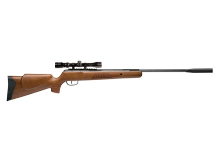 Crosman Nitro Piston Venom Dusk Break Barrel Air Rifle 22 Caliber Pellet Brown Hardwood Stock Matte Barrel with 3-9x 32mm Scope