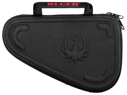 "Ruger 10"" Molded Compact Pistol Gun Case Foam Shell Black"