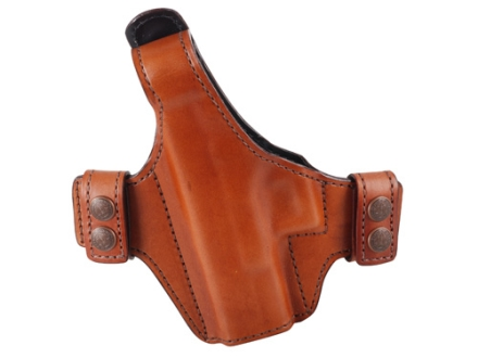 Bianchi Allusion Series 130 Classified Outside the Waistband Holster Left Hand Glock 19, 23, 32 Leather Tan