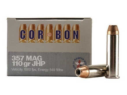 Cor-Bon Self-Defense Ammunition 357 Magnum 110 Grain Jacketed Hollow Point Box of 20