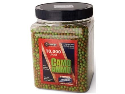 Crosman Airsoft BBs.12 Gram Camo Ammo Package of 10,000