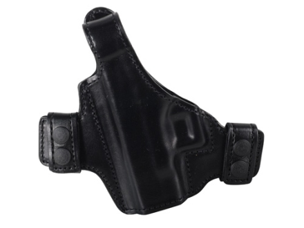 Bianchi Allusion Series 130 Classified Outside the Waistband Holster Left Hand Glock 26, 27, 33 Leather Black