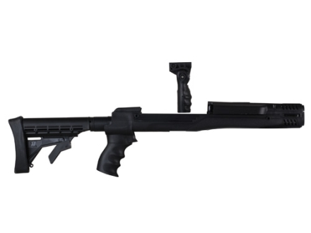 "Advanced Technology Ultimate Professional ""Plus"" Strikeforce 6-Position Collapsible Side Folding Rifle Stock with Aluminum Upgrade, Scorpion Recoil System & Vertical Grip Ruger Mini-14, Mini-30 Black"