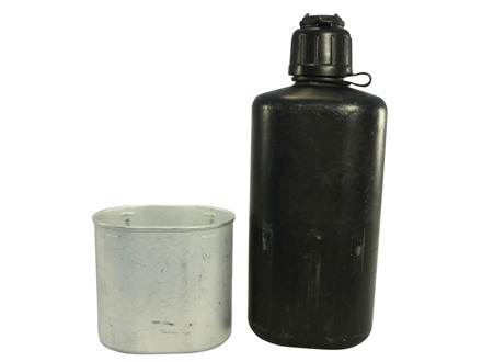 Military Surplus Swiss M84 Canteen with Cup