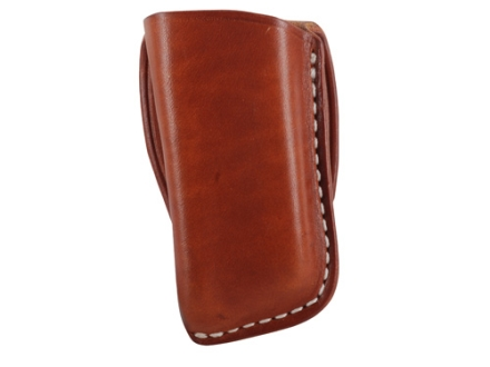 El Paso Saddlery Single Magazine Pouch Double Stack 9mm, 40 S&W Magazine Leather Russet Brown