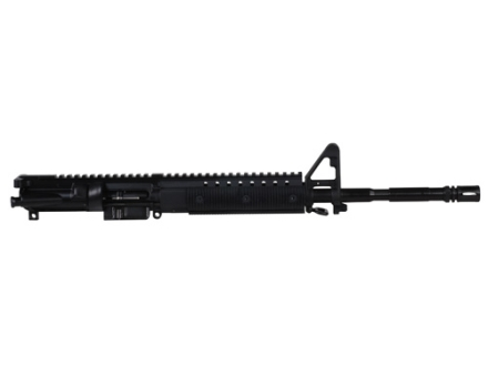 "CMMG AR-15 Evolution M4 A3 Flat-Top Upper Assembly 22 Long Rifle 1 in 16"" Twist 16"" Barrel WASP Melonite Finish Chrome Moly Matte with Revolution Modular Rail Handguard, A2 Front Sight, Flash Hider"