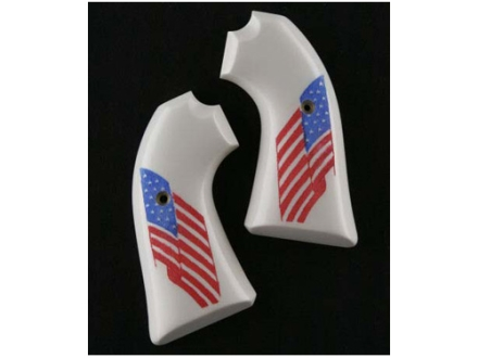 Hogue Grips Ruger Bisley Ivory Polymer American Flag Pattern