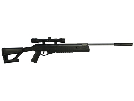 Crosman TR77 Nitro Piston Tactical Break Barrel Air Rifle 177 Caliber Pellet Black Synthetic Stock Matte Barrel with 4x32mm Scope