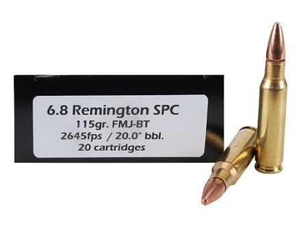 Doubletap Ammunition 6.8mm Remington SPC 115 Grain Full Metal Jacket Boat Tail Box of 20