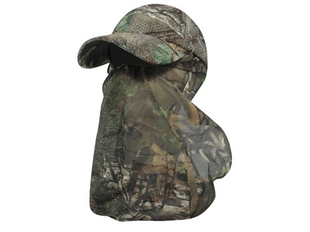Outdoor Cap Air Mesh Cap and Face Mask Combo Polyester Realtree Xtra Green Camo