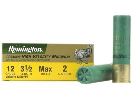 "Remington Premier Magnum Turkey Ammunition 12 Gauge 3-1/2"" High Velocity 2 oz #4 Copper Plated Shot Box of 10"