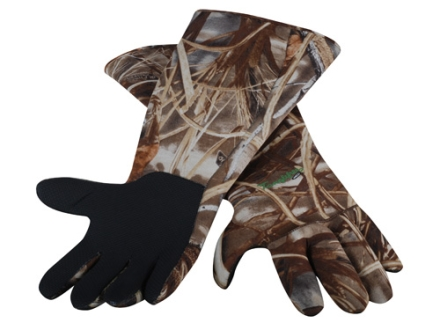 Tanglefree Gauntlet Gloves Neoprene Realtree Max-4 Camo
