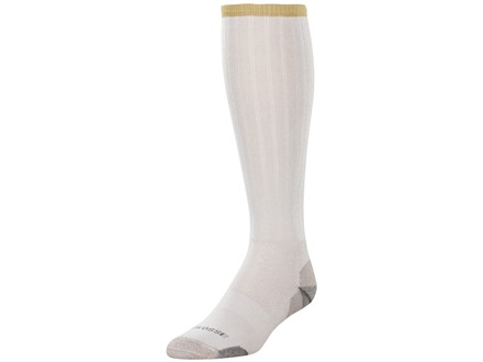 LaCrosse Men's AlphaBurly Lightweight Over the Calf Socks Merino Wool and Synthetic Blend Warm Gray XL (12-1/2-15)