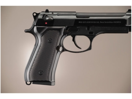 Hogue Extreme Series Grip Beretta 92F, 92FS, 92SB, 96, M9 Checkered Brushed Aluminum Gloss Black