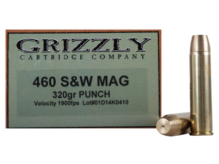 Grizzly Ammunition 460 S&W Magnum 320 Grain PUNCH Box of 20