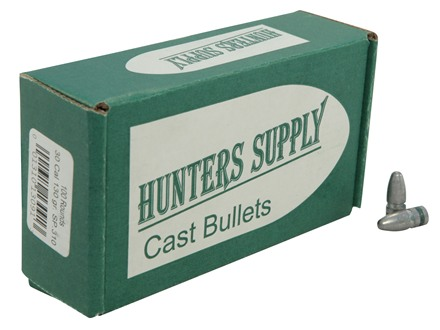 Hunters Supply Hard Cast Bullets 30 Caliber 7.62x39mm (310 Diameter) 130 Grain Lead Spitzer Point