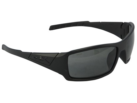 Wiley X Black Ops WX Twisted Shooting Safety Glasses Matte Black Frame Smoke Gray Lens