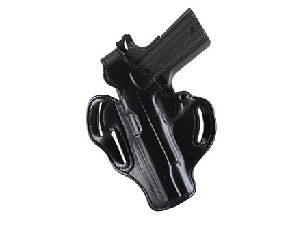 "DeSantis Thumb Break Scabbard Belt Holster Left Hand Springfield XD Service 4"" Suede Lined Leather Black"