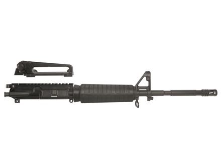 "Bushmaster AR-15 Patrolman M4 A3 Flat-Top Upper Assembly 5.56x45mm NATO 1 in 9"" Twist 16"" Barrel Chrome Lined Chrome Moly Matte with M4 Handguard, Detachable Carry Handle, Flash Hider"