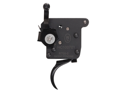 Huber Concepts Tactical 2# Rifle Trigger Remington 700 with Right Hand Safety 1 lb to 2 lb Two Stage Black
