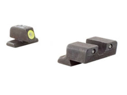 Trijicon HD Night Sight Set Springfield XD Steel Matte 3-Dot Tritium Green with Yellow Front Dot Outline
