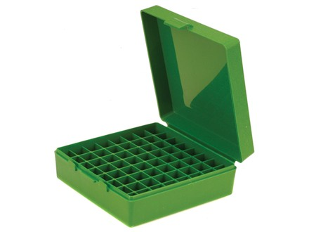 MTM Flip-Top Ammo Box 480 Ruger, 50 Action Express, 500 Linebaugh 64-Round Plastic Green