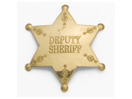 Collector's Armoury Replica Old West Deputy Sheriff Badge Brass