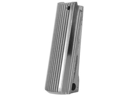 Colt Mainspring Housing Flat 1911 Government, Commander Grooved Bright Stainless Steel