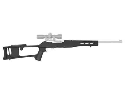 Advanced Technology Fiberforce Dragunov Style Rifle Stock Ruger 10/22 Standard Barrel Channel Polymer Black