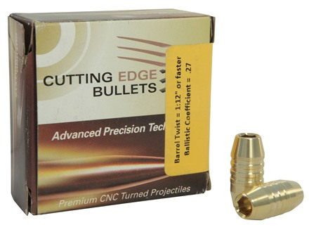 Cutting Edge Bullets ESP Raptor Bullets 50 Caliber (500 Diameter) 350 Grain Enhanced System Projectile Boat Tail Copper Lead-Free Box of 20