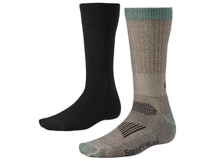 SmartWool Men's Ultimate Lightweight Hunting Socks System Wool Blend Black and Taupe Medium 6-8-1/2
