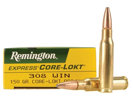 Remington Express Ammunition 308 Winchester 150 Grain Core-Lokt Pointed Soft Point Box of 20