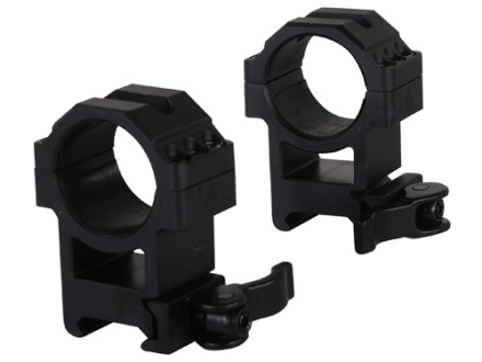 Leapers UTG 30mm Max Strength Tactical 6-Hole Quick Detachable Picatinny-Style Rings Matte High