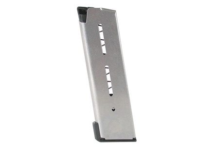 Wilson Combat Magazine with Base Pad 1911 Officer 45 ACP 8-Round Stainless Steel