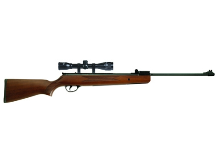 Winchester 1028WS Break Barrel Air Rifle 177 Caliber Wood Stock Blue Barrel With Scope 4x 32mm Matte