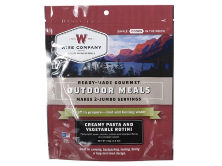 Wise Food Creamy Pasta with Vegtables and Chicken Freeze Dried Meal 6 oz