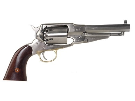 Uberti 1858 Remington Steel Frame Black Powder Revolver 44 Caliber Stainless Steel