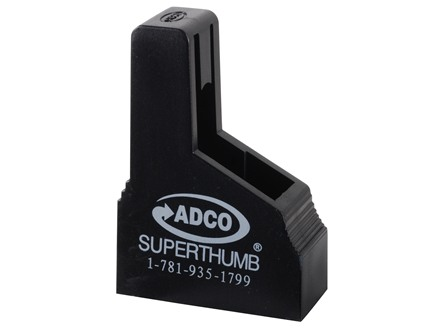 ADCO Super Thumb Magazine Loader Walther PP-PPK-PPK/S, Beretta 85, Sig P230-P232-P238, Ruger LCP, Bersa Thunder 380 Polymer Black