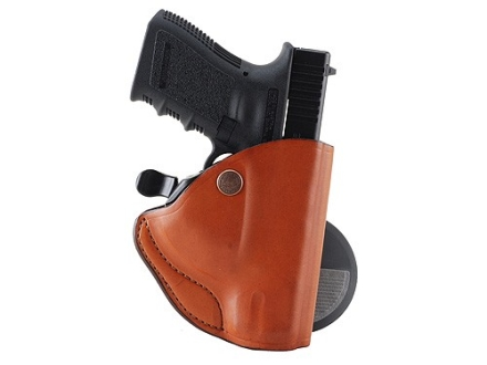 Bianchi 83 PaddleLok Paddle Holster Left Hand Glock 19, 23, 36 Leather Tan