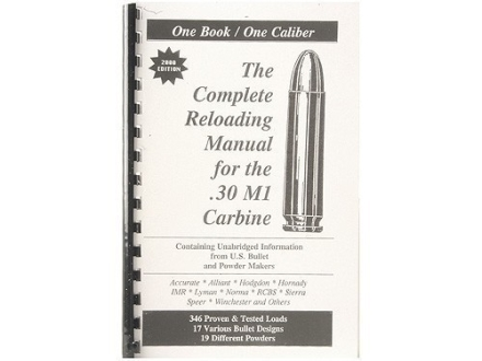 "Loadbooks USA ""30 Carbine"" Reloading Manual"