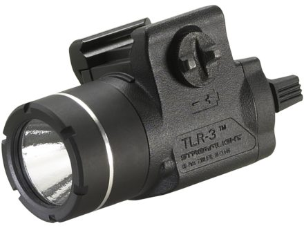 Streamlight TLR-3 Tactical Illuminator Flashlight White LED  Fits Picatinny or Glock-Style Rails Polymer Matte