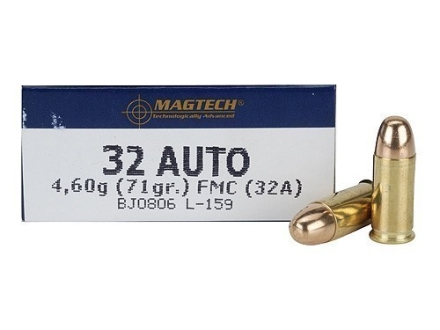 Magtech Sport Ammunition 32 ACP 71 Grain Full Metal Jacket