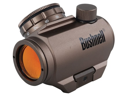 Bushnell Trophy TRS-25 Red Dot Sight 1x 25mm 3 MOA Dot with Integral Weaver-Style Mount Dark Earth