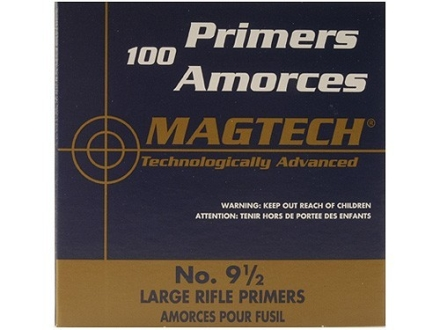 Magtech Large Rifle Primers #9-1/2 Box of 1000 (10 Trays of 100)