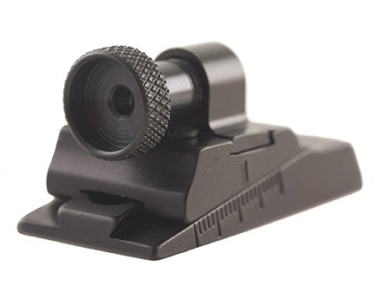 Williams WGRS-KN Guide Receiver Peep Sight Modern Muzzleloading MK85 and Savage M-110 Flat Rear Aluminum Black