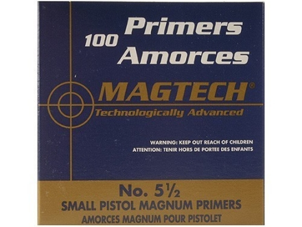 Magtech Small Pistol Magnum Primers #5-1/2 Case of 5000 (5 Boxes of 1000)